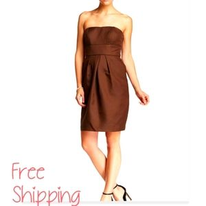 Alfred Angelo Brown Dress Strapless Cocktail sz.4…